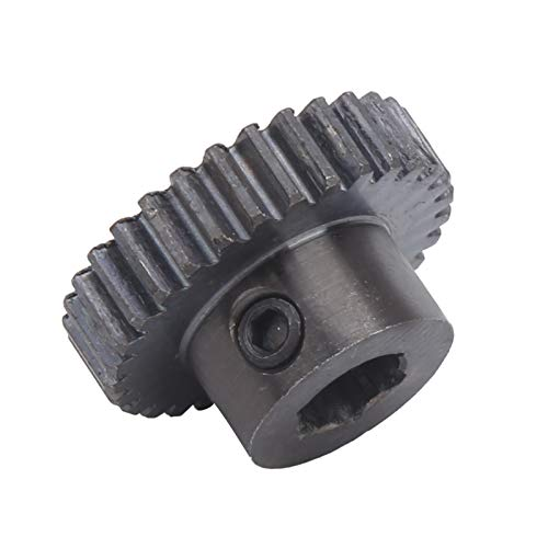 Small Sprocket Pinion Gear 0.8 Modulus High Hardness 8mm / 0.31in Hex Hole for DIY Projec