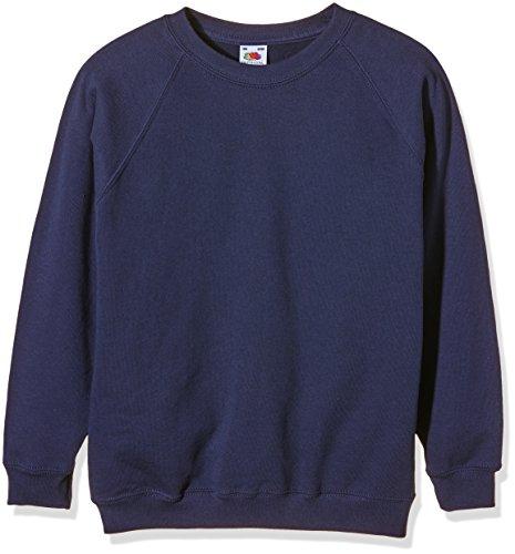 Fruit of the Loom Jungen Sweatshirt SS024B, Blau, 9-11 Years (taille fabricant: 140cm/32)