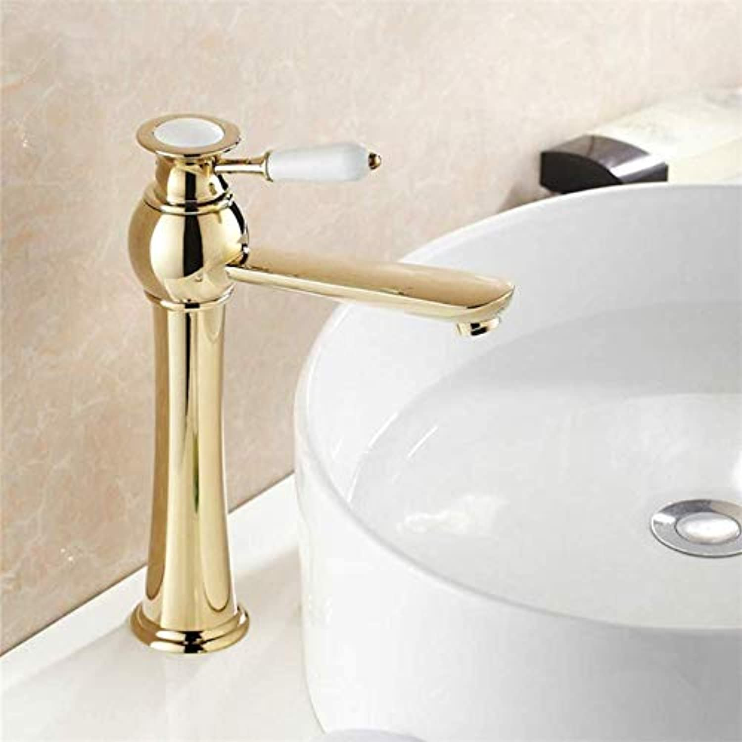 Stunning Luxury Bathroom Basin Faucet Brass Basin Toilet Faucet gold Polished Bar Faucet