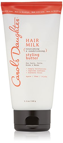 Curly Hair Products by Carols Daughter, Hair Milk Styling Butter For Curls, Coils and Waves, with Agave and Sweet Almond Oil, Styling Butter for Curly Hair, 5 oz (Packaging May Vary)