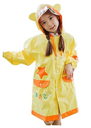 Korean Lovely bébé imperméable Mode enfants pluie Girafe Jaune S