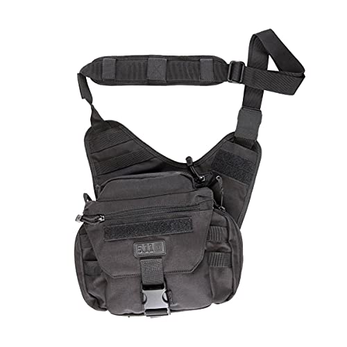 5.11 Tactical Push Pack, Utility Sling Bag for Responders, Black, One Size, Style 56037