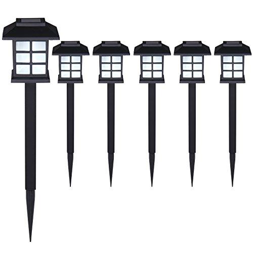 Set de 6x lampes solaires LED Lumière pour jardin balcon terrasse