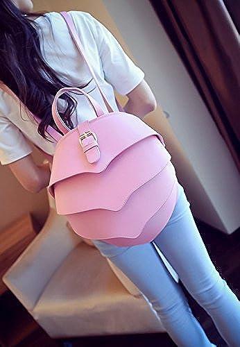 Mode K r schulter Rucksack Pers ichkeit koreanische Version Weißichen Taschen College wind Schultasche, Rosa