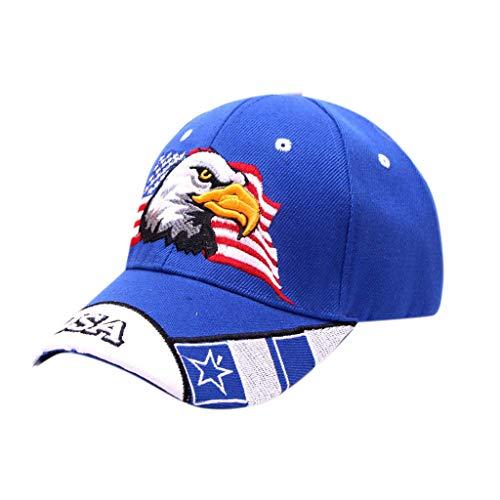 BHYDRY Mujeres Hombres Unisex Verano Al Aire Libre Águila Visor Gorra de béisbol Sombrero Ajustable