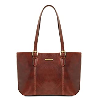 Tuscany Leather Annalisa Shopper, Schultertasche, Braun