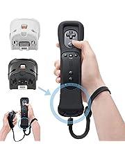 SunshineFace Remote Motion Plus Sensor Adaptateur de Contrôleur + Étui en Silicone pour Nintendo Wii