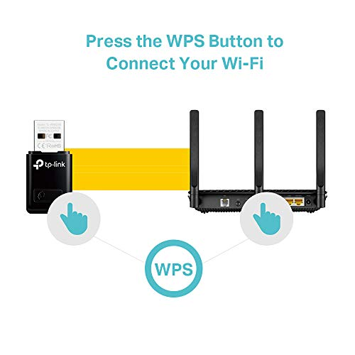 TP-Link TL-SG105 5-Port Gigabit Netzwerk Switch (bis 2000 MBit/s, 10/100/1000Mbp, geschirmte RJ-45 Ports) blau metallic & TL-WN823N N300 Mini WLAN USB Adapter schwarz
