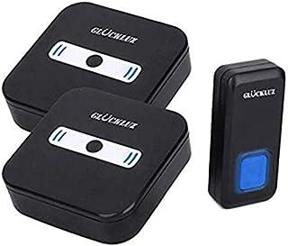 Gluckluz Doorbell Wireless Waterproof Door Bell Cordless Doorbells 55 Chime with UK Plug for Home Office Kitchen Apartment...