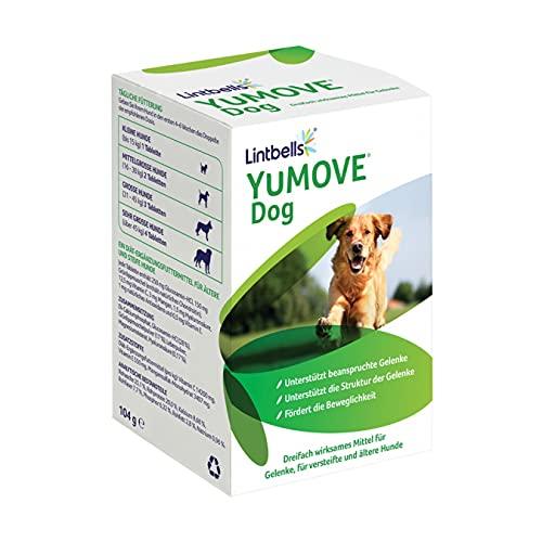 YuMOVE Dog Gelenktabletten für ältere Hunde ab 7 Jahre – Nahrungsergänzungsmittel mit Grünlippmuschelpulver – 1 x 120 Tabletten