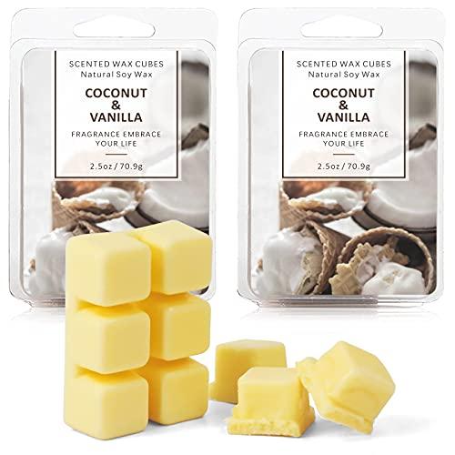 SCENTORINI Wax Melts, Wax Cubes, Coconut Vanilla Wax Melts, Soy Scented Wax...