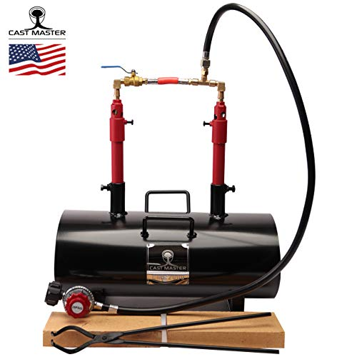USA Cast Master Elite Portable Double Burner Propane Forge Blacksmith Farrier Caster Deluxe KIT Jewelry...