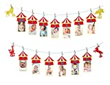 E&L 1st Year Photo Banner Party Supplies , Carnival Theme Photo Banner from NB...