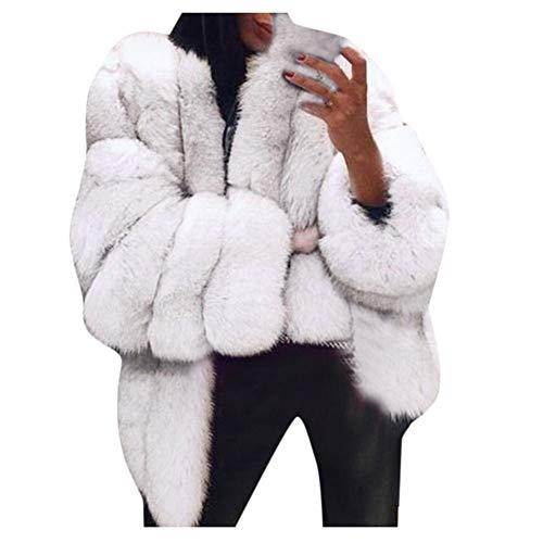 Fossen MuRope Abrigos Mujer Invierno Piel Sintética Clasico - Abrigos Mujer Invierno Elegantes Lana - Sudaderas Mujer con Cremallera Parkas Niñas Adolescentes Chicas