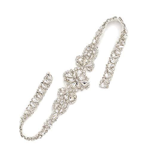 Faja de diamantes de imitación brillante para cinturón de apliques de cristal...