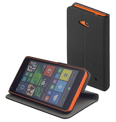 yayago Book Style Tasche Case für Microsoft Lumia 640 Hülle Klapphülle mit Standfunktion Schwarz
