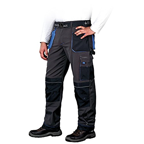 Panorama24 Arbeitshose Bundhose Arbeitskleidung Schutzkleidung Grau Schwarz Blau Gr.46-62