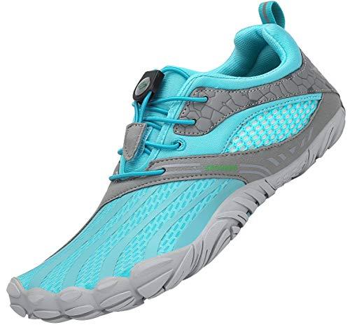 SAGUARO Barefoot Zapatillas de Trail Running Hombre Mujer Zapatillas Ligeros de Secado Rápido para Playa Beach Surf Mar Piscina Río Yoga Cycling Deportes Acuáticos,SC Azul 41 EU