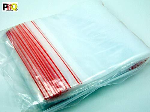 POPESQ® 100 Stk. x ZIP Druckverschluss Beutel 70mm x 100mm 45µ Polypropylen Transparent #A2528