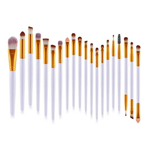 JKL® Pinceaux de Maquillage Set Eye Shadow Foundation Poudre Eyeliner Eyelash Brosse à Sourcils Cosmetic Beauty Make Up Tool Kit, Or Blanc