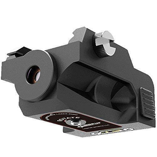 Laspur Tactical Low Profile Sub Compact Picatinny Rail Mount Green Dot Laser Sigh, Built-in Rechargeable Battery Accessory for Handguns and Rifles (USB Cable)