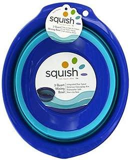 Squish 41004 Mixing Bowl, 3-Quart, Blue