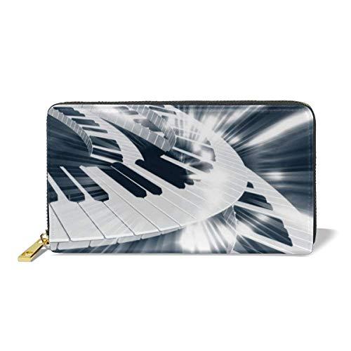 Zip Wallet,Piano Keyboard Münzgeldbörse, Soft Purse Wallets Für Mutter Tochter Freundin,10.5(W) x19(L) x2.5(T) cm