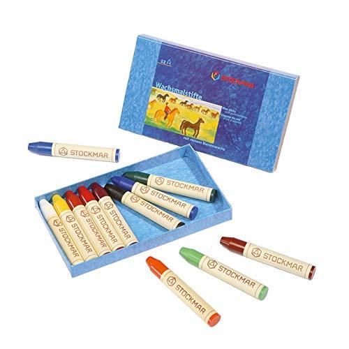 Stockmar Beeswax Stick Crayons, Set of 12