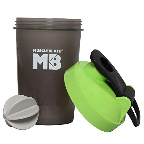 MuscleBlaze Fighter Shaker (Green) 400ml