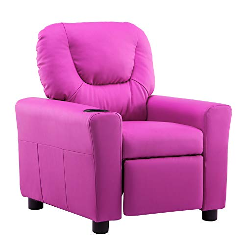 Mcombo Kids Recliner Chair Armrest Sofa Couch with Cup...