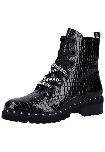 Steve Madden Damen Tess Bootie Biker Boots, Schwarz (Black Croco 066), 40 EU