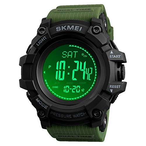 Compass Watch Army, Digital Outdoor...