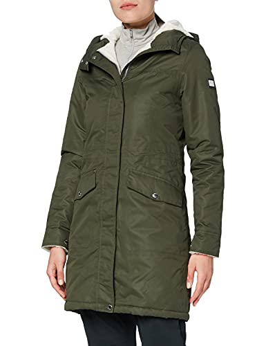 Regatta Damen Rimona Waterproof Breathable Taped Seams Insulated Lined Hooded Jacket Jacke, Dunkles kaki, 44