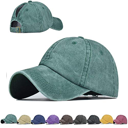 Washed Style Ponytail Top Hats f...