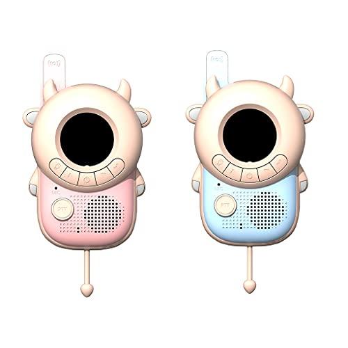 MIORIO Mini 2 uds, Intercomunicador para niños, Walkie Talkie, Radio para niños, Juguete, transceptor de transmisión de Larga Distancia, Juguetes interactivos para niñas