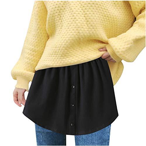 Kurzer Damen Rock Gestreiftem Saum Spitzensaumrock Übergröße Layered Tiered Sheer Lace Trim Extender Half Slip Mini Rock Skirt Basisrock