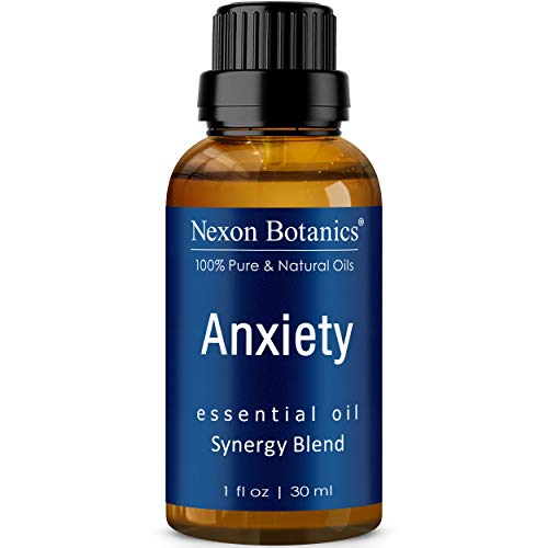 Anxiety Essential Oil Blend 30 ml - Made in USA - Diffuses Stress Away – Promotes Relaxation, Calming Essential Oils - Can be Used for Aromatherapy and Headaches Relief - Nexon Botanics