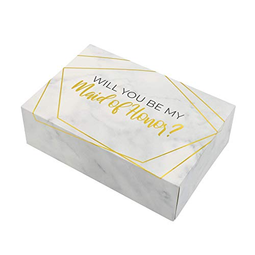 Maid of Honor Proposal Box   1 pack   Maid of Honor Box   Maid of Honor Proposal Gift   Modern Marble Design