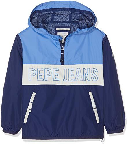 Pepe Jeans Brandon Chaqueta, Azul (Steel Blue 563), 13-14 años (Talla del fabricante: 14) para Niños