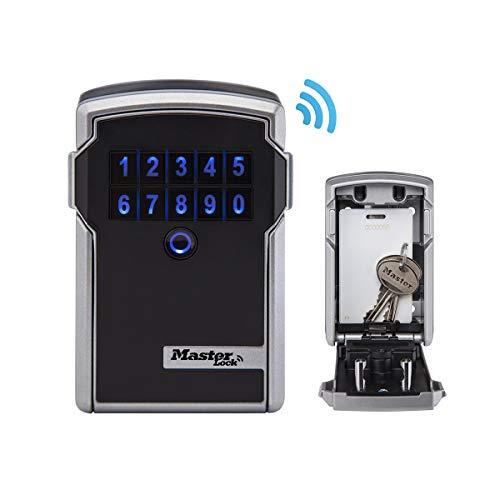 Master Lock 5441EURENT Caja de Seguridad para Llaves con Bluetooth usos comerciales [Montaje en Pared] [Bluetooth o Combinación]