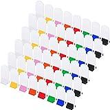 48 Piezas Soportes de Cartas de Juego Soportes de Juego de Cartón Multicolor y 48 Piezas Cartas de Juego Blanca Cartas de Juego de Tablero Blanca para Favor de Fiesta