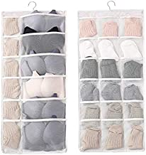 Double Sided Storage Hanging Bag Wall Type Oxford Cloth Close-Fitting Clothing Reasonable Storage Hanging Bag Bra Sock Org...