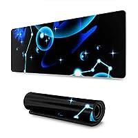 青と黒の魚座 マウスパッド 30×80 大判 ノンスリップ 防水 ゲーミング おしゃれ マウスの精密度を上がる