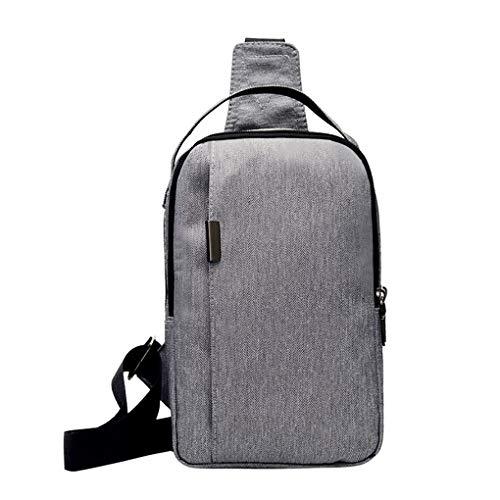 Brusttasche für Herren/Skxinn Umhängetasche Schultertasche Cross Bag Schleuder Tasche Sling Rucksack Multipurpose Daypack,Outdoor Sport Running Casual Umhängetasche(H-1)