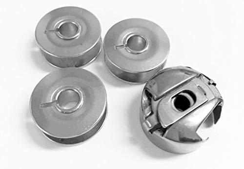 Spulenkapsel 6 mm und 3 Metallspulen für PFAFF Nähmaschine