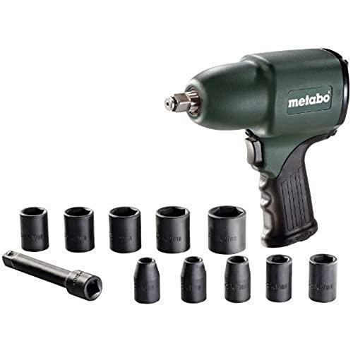 Metabo 604118500 Atornillador de Impacto Neumático, 0 W, 1 V, Verde