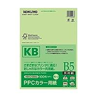 コクヨ PPCカラー用紙 共用紙 FSC認証 B5 緑 KB-C135NG Japan