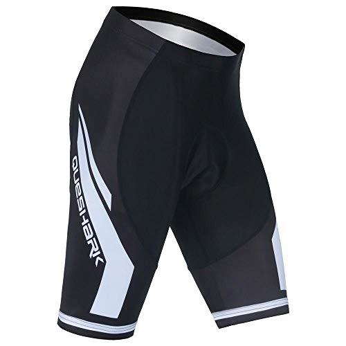 Queshark Sports Herren Radunterhose Herren Radfahren Unterwäsche 5D Gepolstert Atmungsaktiv Fahrrad Unterwäsche Short mit Rutschhemmendem Beingreifer