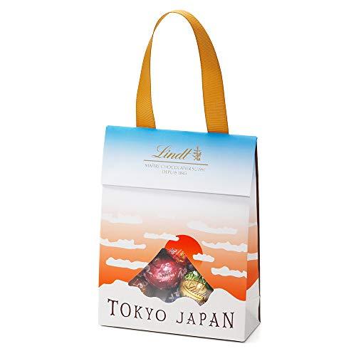 リンツ (Lindt) チョコレートジャパンコレクションバッグ 5種10個入り (富士山)ショッピングバッグXS付