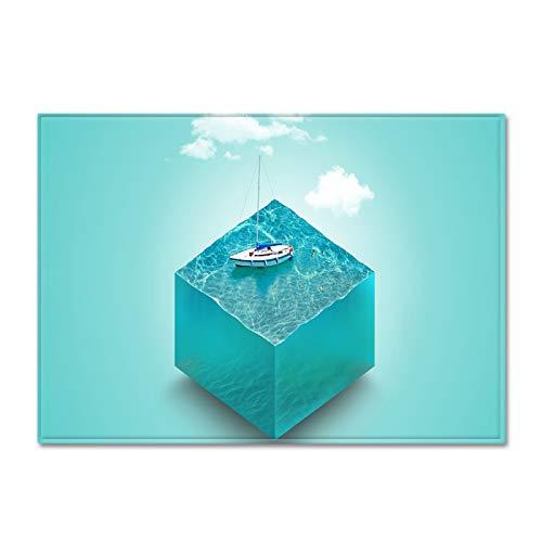 MMHJS Alfombra Grande De Decoración Creativa Personalizada De Estilo Europeo 3D Adecuado para Almohadillas Antideslizantes En Dormitorios, Pasillos, Baños Y Cocinas No Se Puede Lavar El Cabello